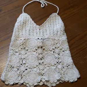 Very cute embroidered  halter top